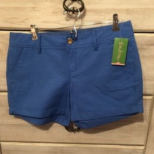 NWT Lilly Pulitzer Callahan Shorts in Lapis Blue
